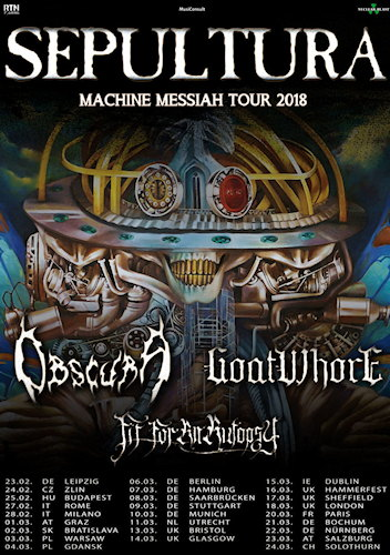 Sepultura MachineMessiahTour2018